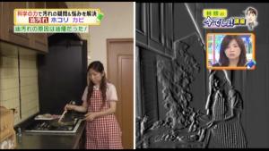 特殊カメラで見ると、油汚れの原因「油煙」は調理の際にこんなに出ています!